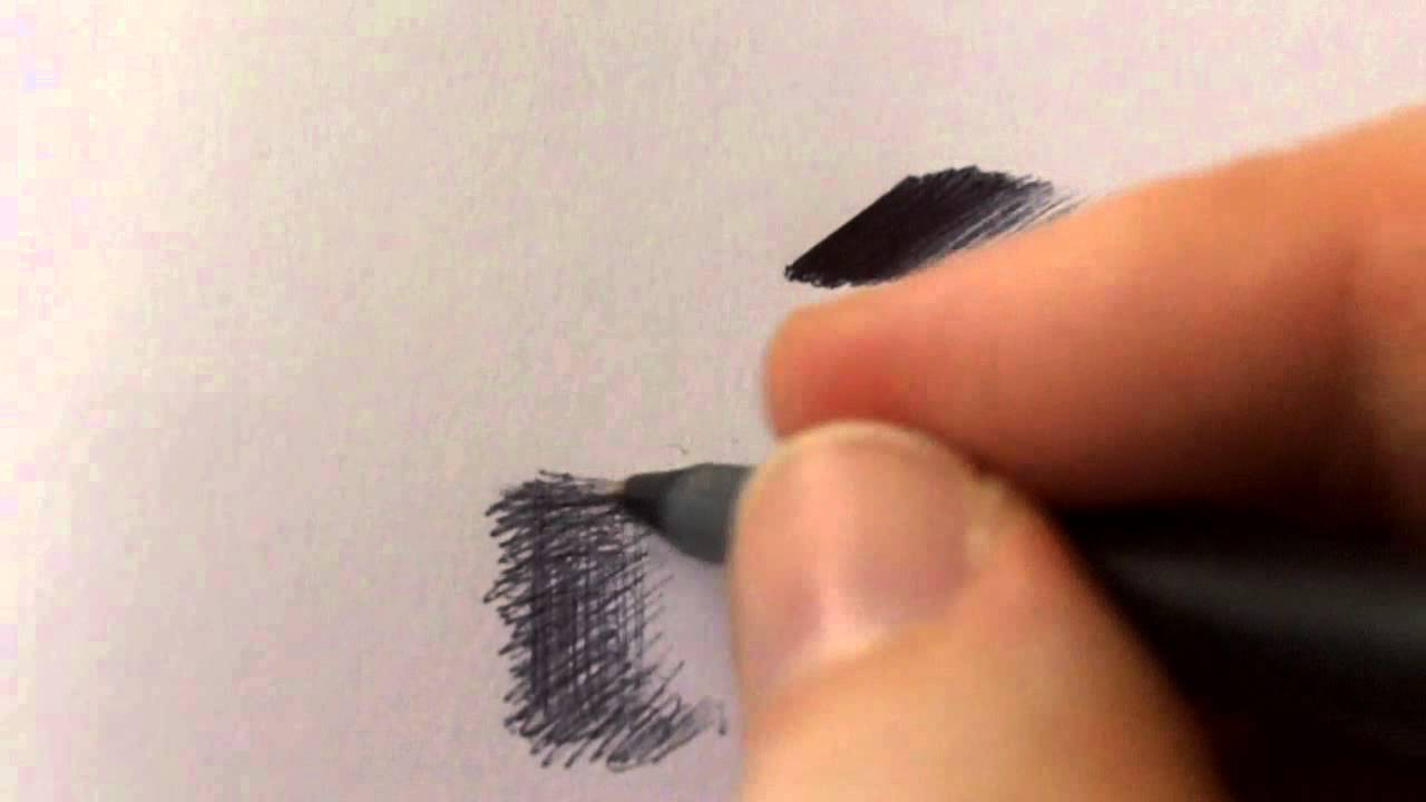 Ball Point Pen Shading Techniques - YouTube