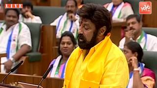 AP Assembly - Nandamuri Balakrishna Takes Oath as MLA in Assembly | TDP Hindupur | YOYO TV
