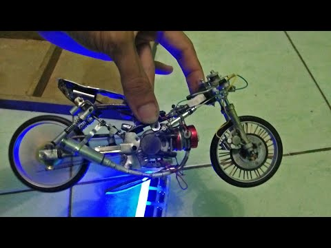 Pemasangan miniatur drag bike hand made