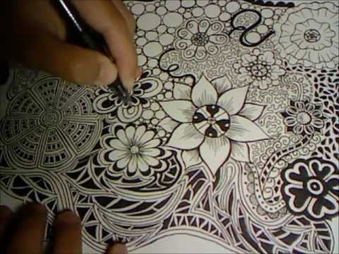 Doodle Flowers Explosion Doodle Drawing 3 YouTube