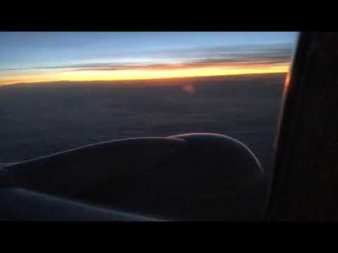 Sunrise On United Airlines Boeing 737-800W Bound For Atlanta From SFO