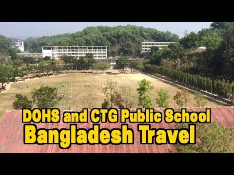 Bangladesh Travel: View of a School, Residential Area in Chi