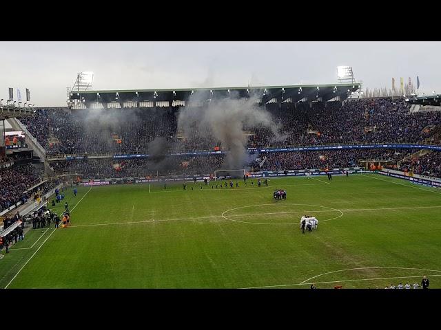 Sfeer voor de aftrap Club Brugge - Anderlecht + TIFO!!!
