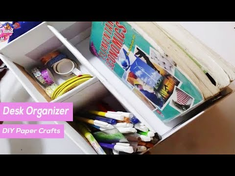 DIY Cardboard Organizer | Desk Organizer | Cardboard Crafts Easy | DIY Paper Crafts