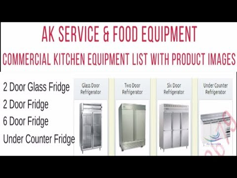 Commercial Kitchen Equipment List For Restaurant Or Hotel