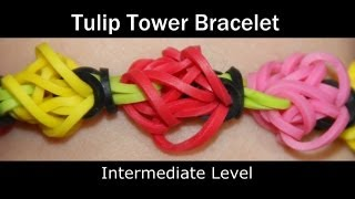Rainbow Loom® Tulip Tower Bracelet