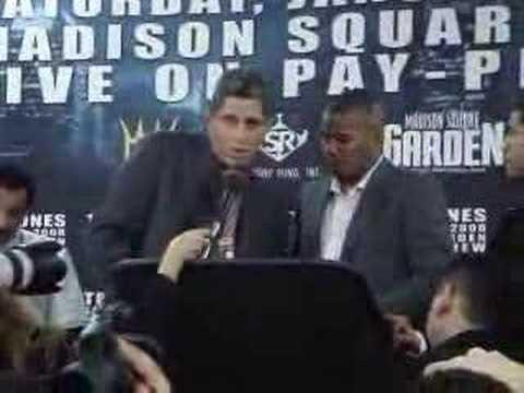 Felix Trinidad post fight presser