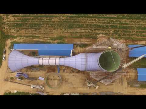 First  China INVELOX Wind Power Turbine Build (Video)