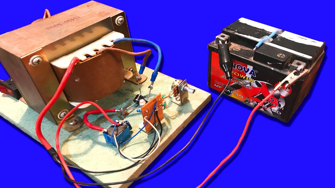 12v 100ah battery charger circuit diagram 1998 ford f150 ignition switch wiring how to make automatic off when full with 15a from ups dc - youtube
