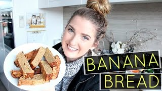 HEALTHY BANANA BREAD  No Refined Sugars, Butter Or Oil!
