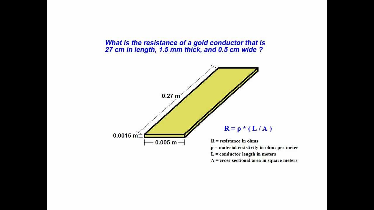 Online tutorial on how to find resistance and resistivity of a ...
