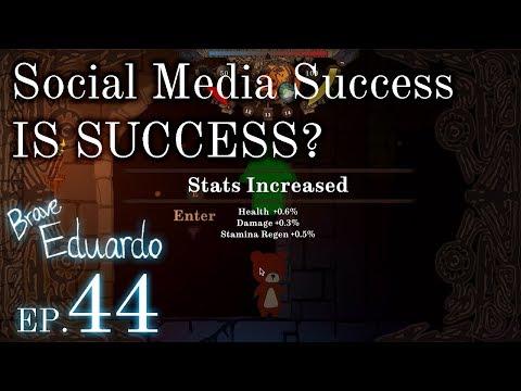 SOCIAL MEDIA SUCCESS EQUALS GAME SUCCESS? | Indie Game Dev: Brave Eduardo Week 44
