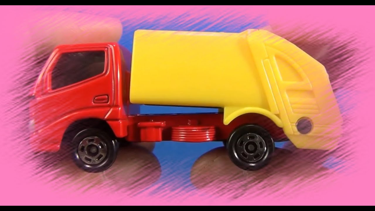 little red yellow car little garbage truck very interesting toyota toy for kids