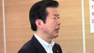 公明党の山口那津男代表は8日、中央幹事会で挨拶をしました。