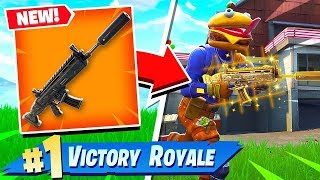 FORTNITE BATTLE ROYALE *NEW* SUPPRESSED ASSAULT RIFLE GAMEPLAY! (New Scar Fortnite)
