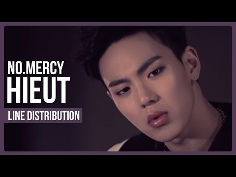 No.Mercy - Hieut Line Distribution (Color Coded) | #2YearsWithMonstaX
