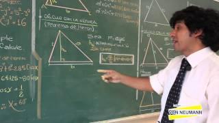 GEOMETRIA - Relaciones métricas en el triángulo oblicuo ángulo [HD]
