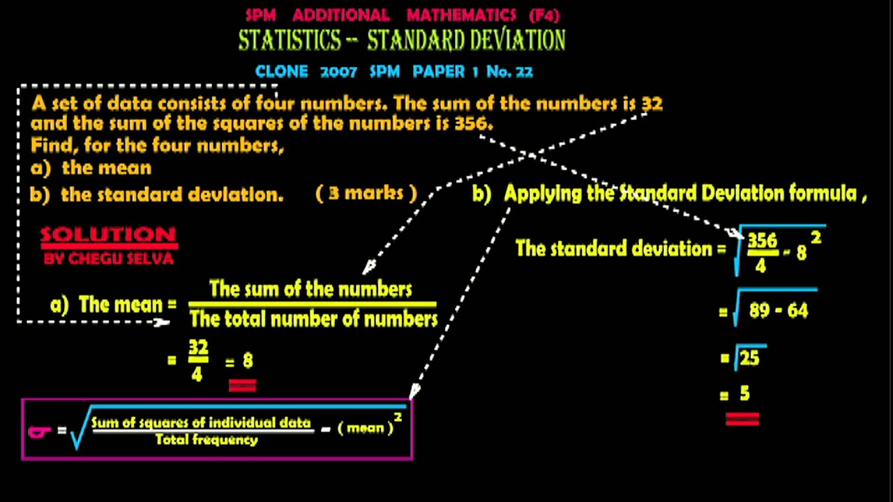 5 tips for understanding standard deviation - Spm Statistics Variance And Standard Deviation