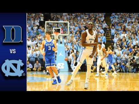 Duke vs. North Carolina Men's Basketball Highlight's (2016-17)
