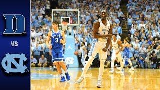 Duke vs. North Carolina Men's Basketball Highlights (2016-17)