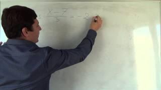 Алгебра 7 класс. 17 сентября. Решение линейных уравнений #7