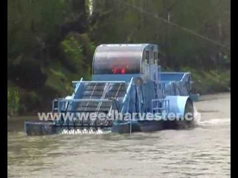 River trash collection boat