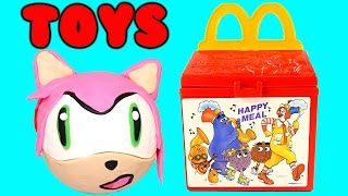 Amy McDonald's Surprise Happy Meal Fast Food Toy Eggs Play Doh MyLittlePony Disney Princess Shopkins