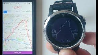 Erstellen und senden von Routen vom iPhone auf r.485 apps (iOS - Garmin)