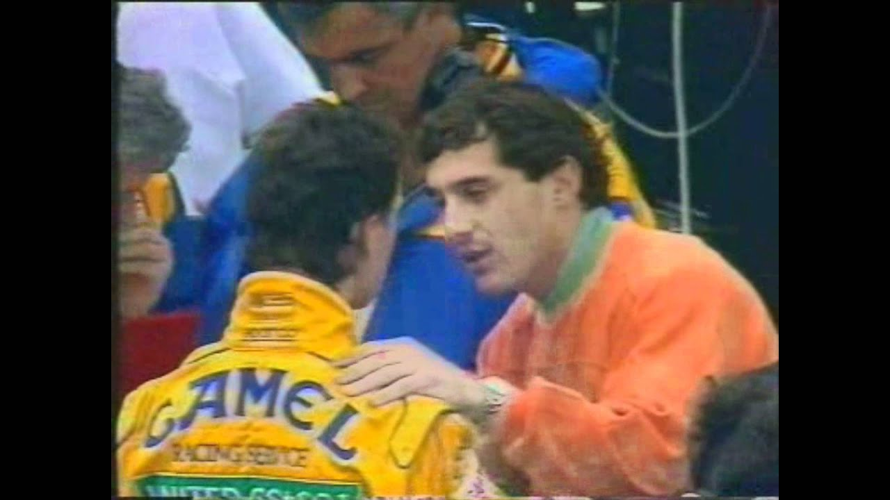 Ayrton Senna And Michael Schumacher At Magny Cours 1992