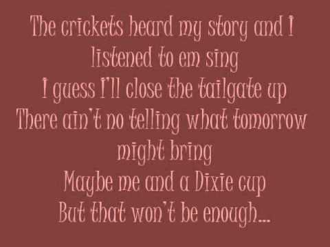 Tailgate Blues - Luke Bryan With Lyrics