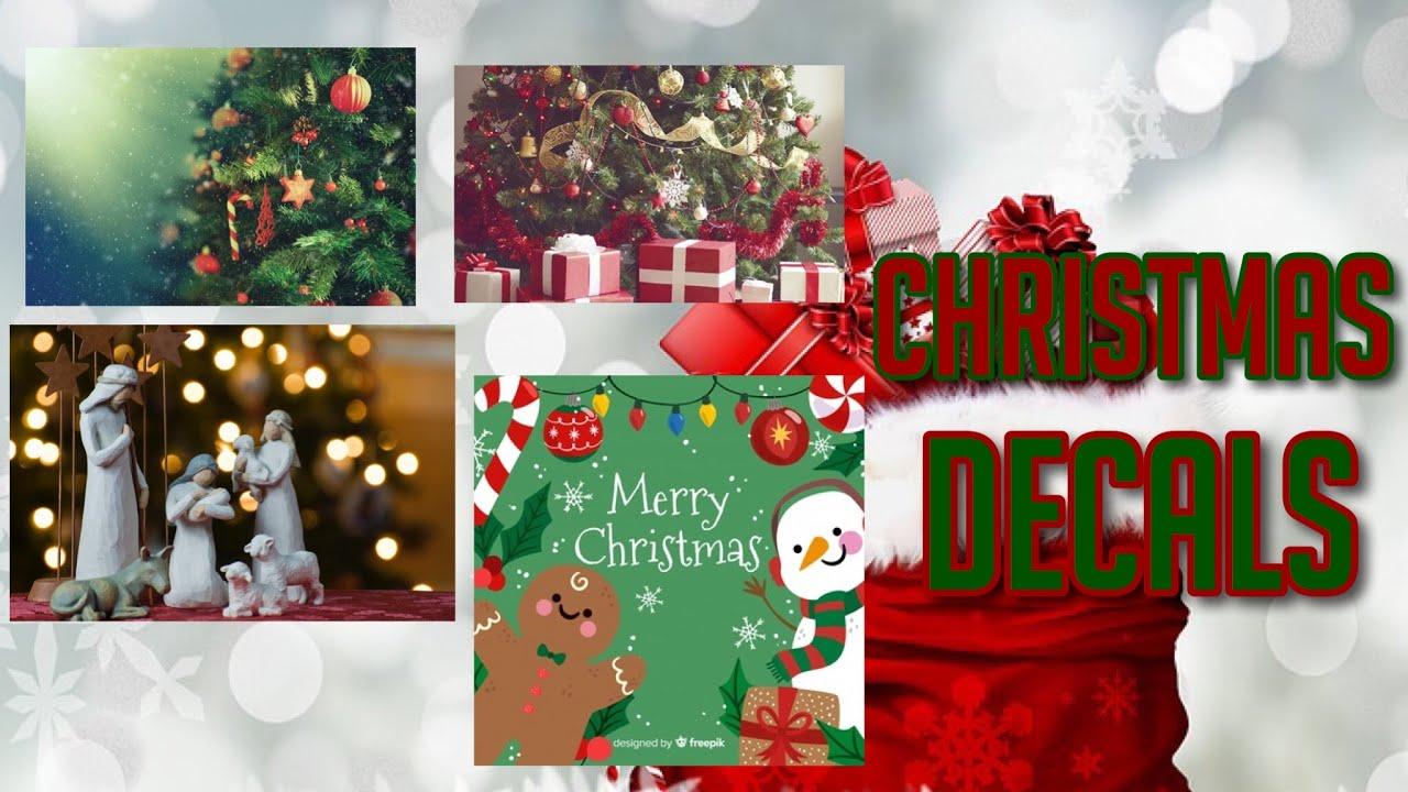 Roblox Bloxburg - Christmas Decal Id's - YouTube