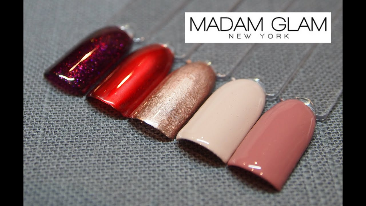 Madam Glam Gel Polish inc NEW Metallic Gel - YouTube