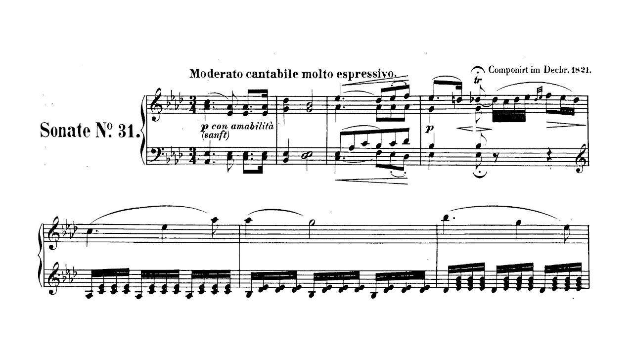 Beethoven Sonata No.31 (complete) Paul Barton, FEURICH piano