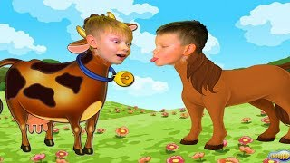 Арсений- лошадь. Саша- корова. Кто Я? ЧЕЛЛЕНДЖ от БРОС ШОУ ГЕЙМС.