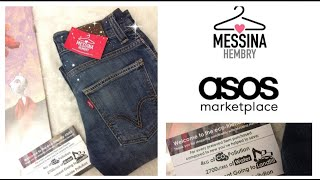 ORDERING A PAIR OF VINTAGE LEVI'S 511 JEANS FROM ASOS MARKETPLACE AT MESSINA HEMBRY