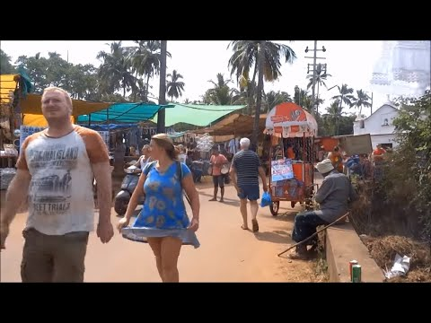 Anjuna Market Goa India