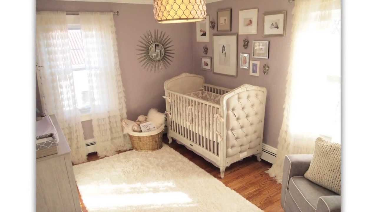 Purple And Gray Baby Room