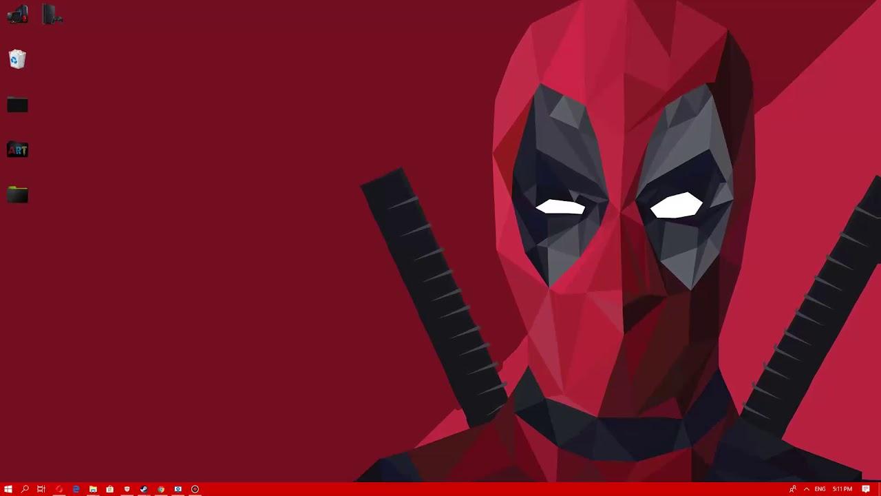 Wallpaper Engine Deadpool Low Polygon Live Free