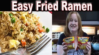 EASY VEGETABLE FRIED RAMEN RECIPE | Tastes just like fried rice | Cook With me Cheap Meal