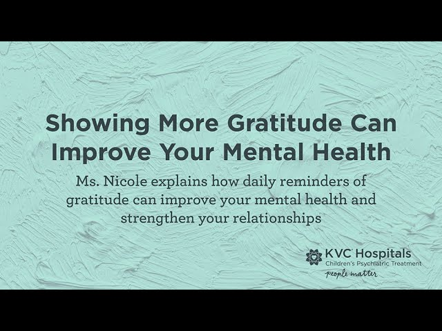 Showing More Gratitude Can Improve Your Mental Health