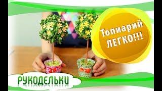 Рукодельки делают топиарий -легко!!! видео для детей