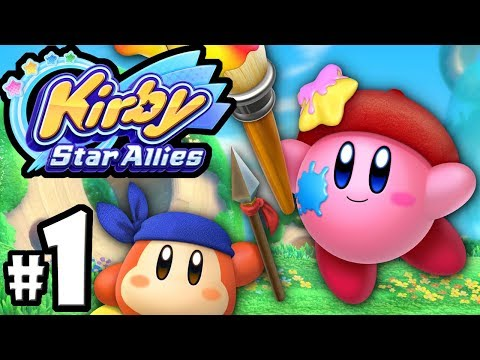 Kirby Star Allies - 2 Player Co-Op! - Nintendo Switch Gameplay Walkthrough PART 1: Dream Land Intro