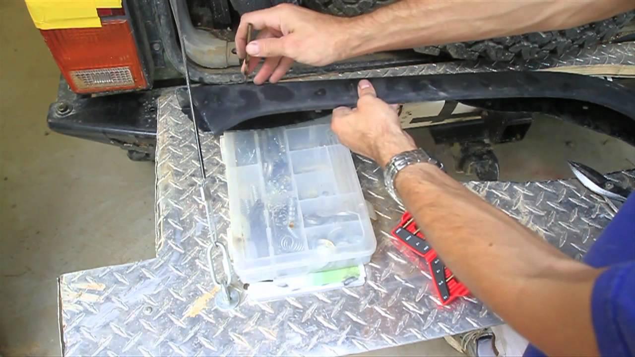 How To Install Wrangler Fender Flares On A Jeep Cherokee Xj Youtube Diagram