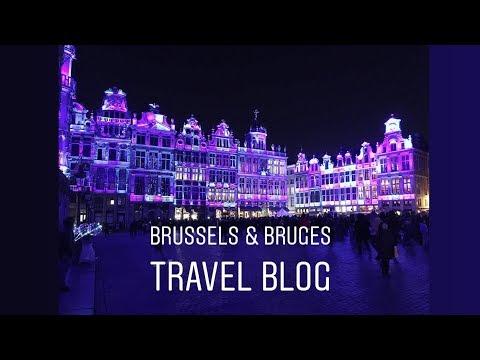 TRAVEL VLOG   Brussels & Bruges   Belgium 2018   Christmas Winter City Break Trip