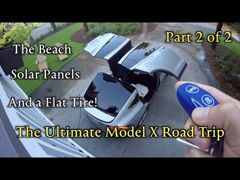 Model X Road Trip: Solar, the beach & a flat tire! Part 2 of 2