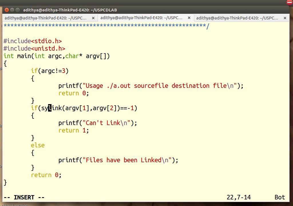 Program 5b Hard Links And Soft Links Unix Youtube