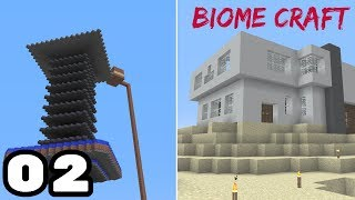 BiomeCraft S1: Episode 2 Mob Farm,First house!