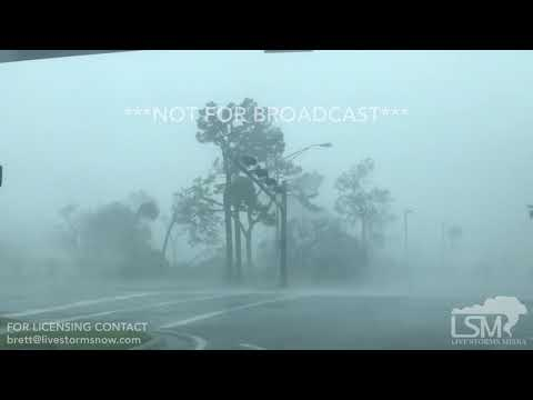 10-10-2018 Panama City, FL - Hurricane Michael Eyewall and Damage
