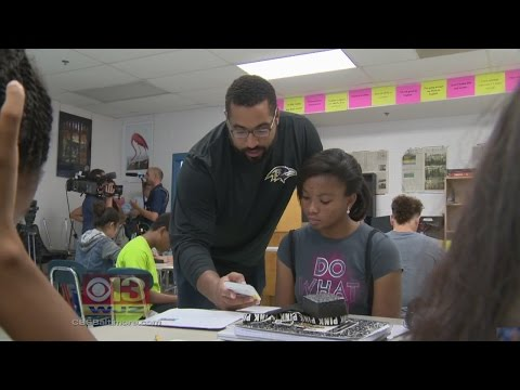 Ravens John Urschel Crunches Numbers With Baltimore Co. Students During Off Season