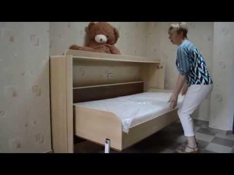 Горизонтальная кровать-трансформер (шкаф-кровать) в Молдове